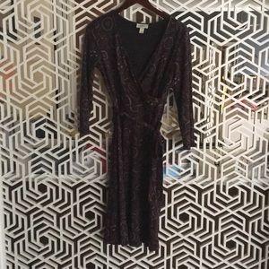 Loft knit wrap dress size 4 excellent condition
